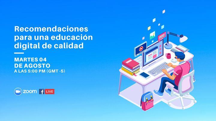Recomendaciones para una educación digital de calidad