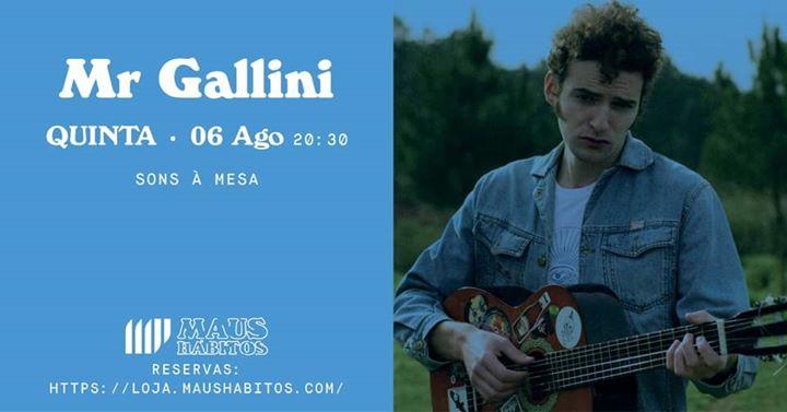 [Esgotado] Sons à Mesa: Mr. Gallini