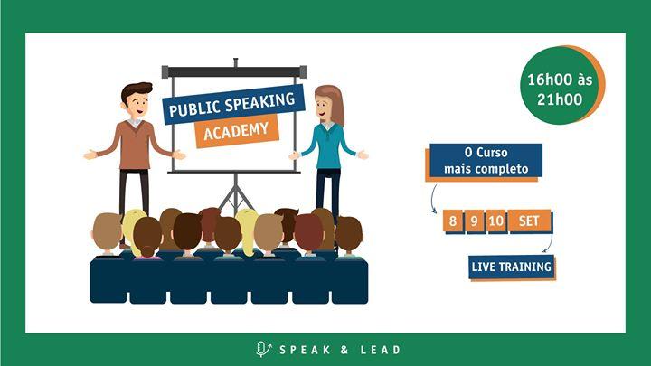Public Speaking Academy – Online – 8, 9 e 10 Setembro