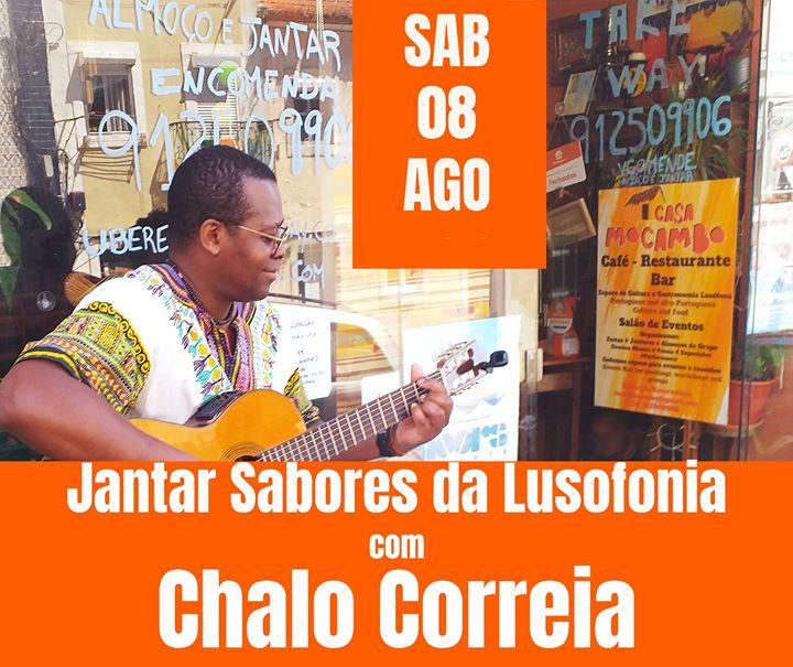 Jantar Sabores da Lusofonia com Chalo Correia