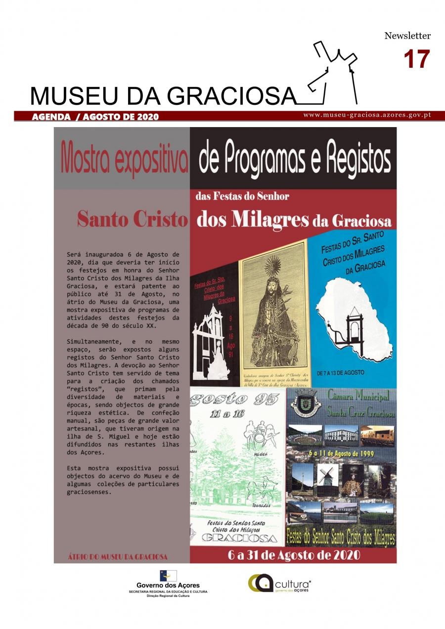 Mostra expositiva de Programas e Registos do Senhor Santo Cristo dos Milagres da Ilha Graciosa