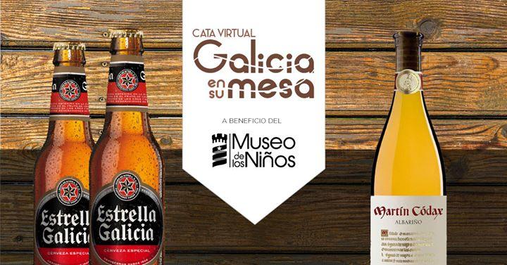 Cata virtual Galicia en su Mesa en apoyo al Museo de los Niños.
