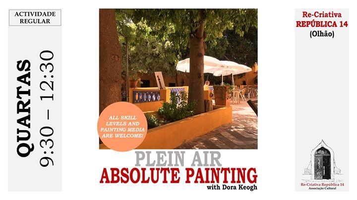 Pintura no exterior com Dora Keogh