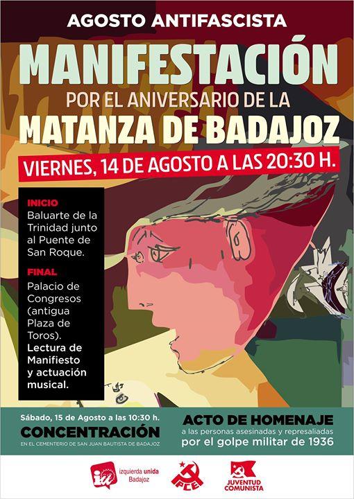 Manifestación por el aniversario de la Matanza de Badajoz