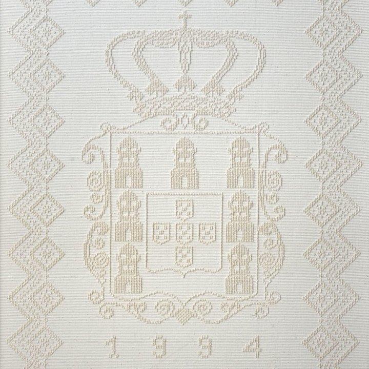 Painel de tecelagem manual em exposição