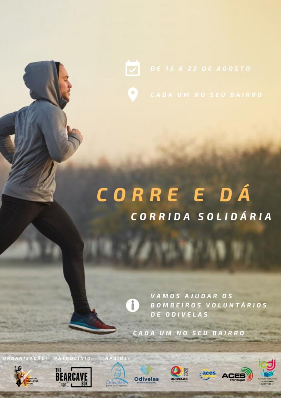 Corre e dá - corrida solidária