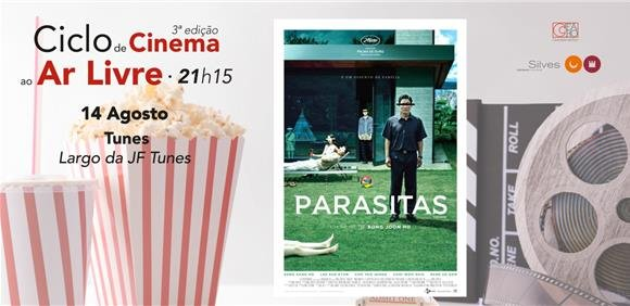 Sessão de cinema ao ar livre: filme 'Parasitas'
