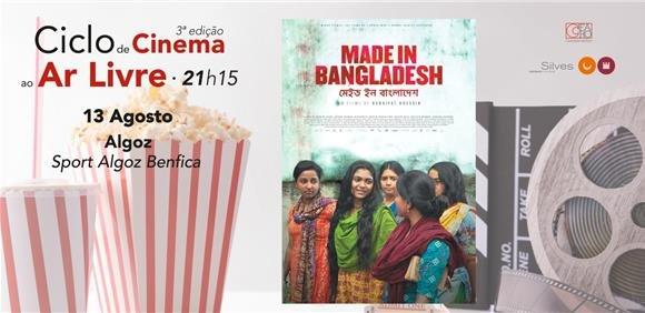 Sessão de cinema ao ar livre: filme 'Made in Bangladesh'