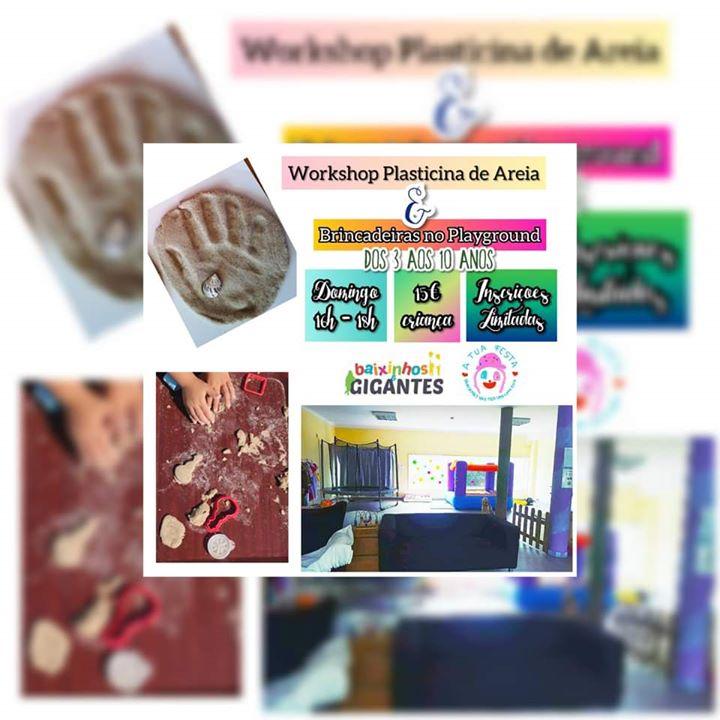 WORKSHOP PLASTICINA DE AREIA E BRINCADEIRAS NO PLAYGROUND