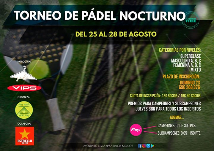 TORNEO NOCTURNO DE PADEL