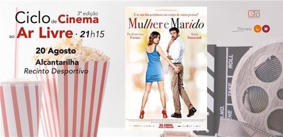 Sessão de cinema ao ar livre: filme 'Mulher e Marido'