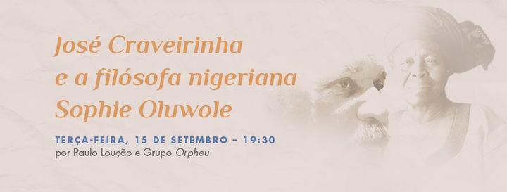 José Craveirinha e a filósofa nigeriana Sophie Oluwole