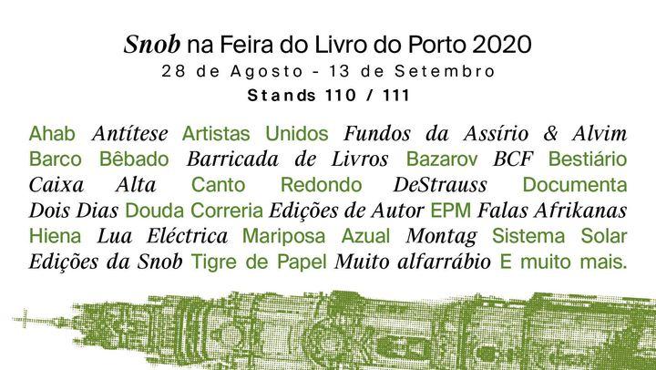 Snob na Feira do Livro do Porto