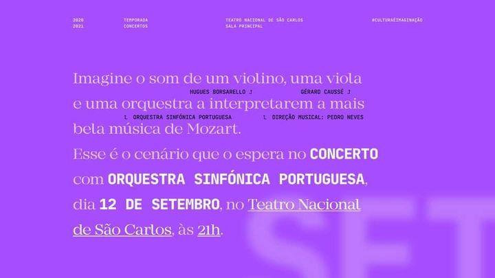 Orquestra Sinfónica Portuguesa e Pedro Neves com Hugues Borsarello e Gérard Caussé: Mozart
