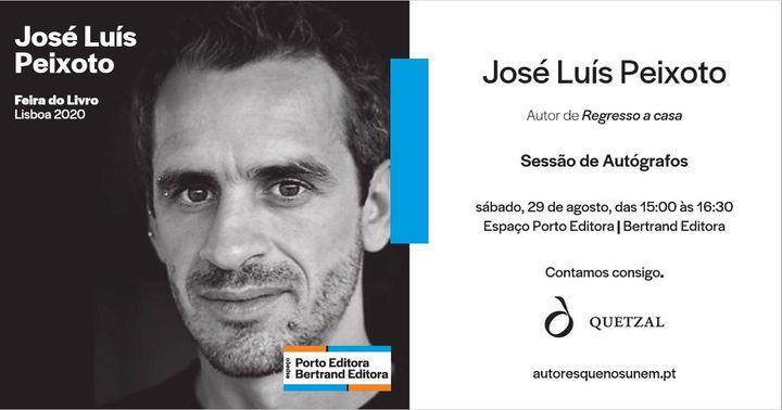 Sessão de autógrafos com José Luís Peixoto