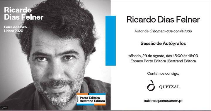 Sessão de autógrafos com Ricardo Dias Felner