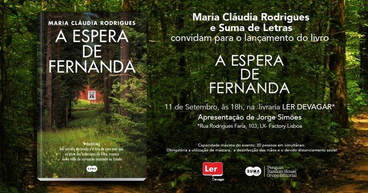 Lançamento do livro A espera de Fernanda