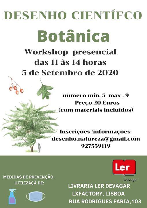 Workshop de Desenho científico.Botânica