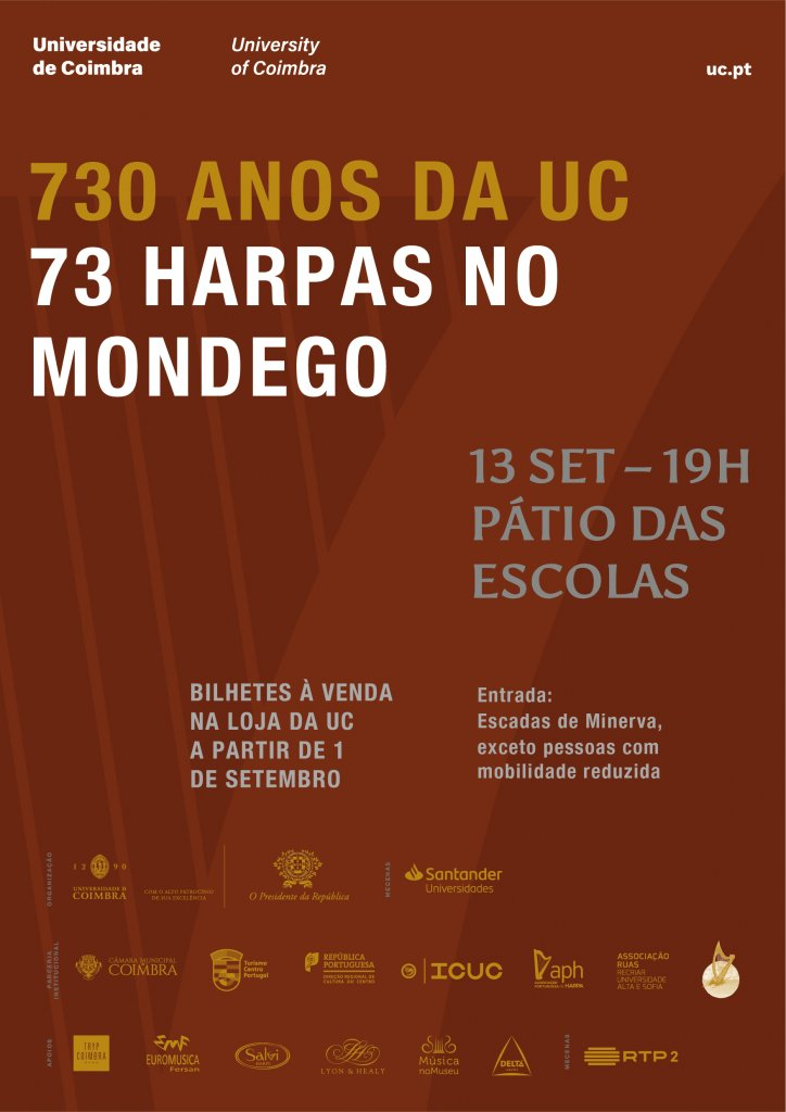 730 Anos da UC: 73 harpas no Mondego