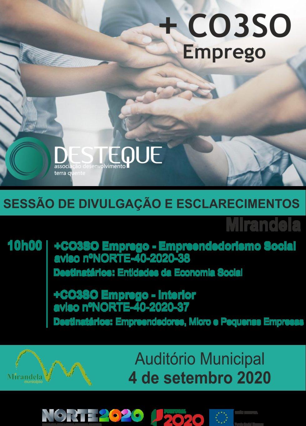 +CO3SO Emprego – Empreendedorismo Social