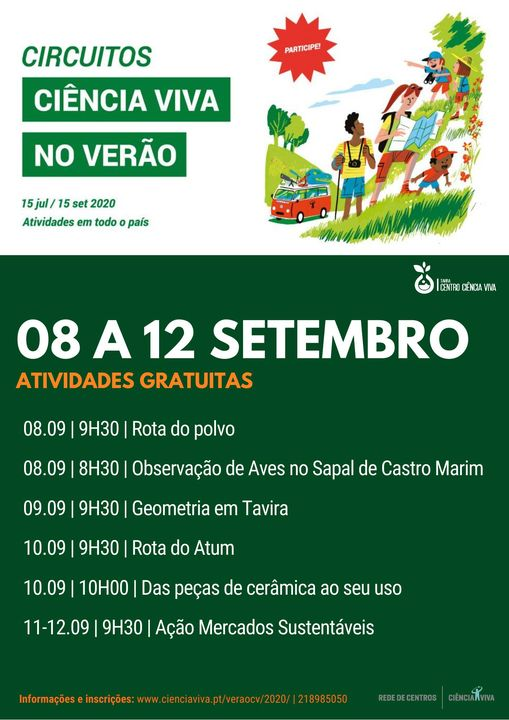 CIÊNCIA VIVA NO VERÃO EM REDE 2020 | 08 a 12.09 | Atividades gra