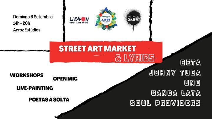 Street Art Market & Lyrics | Domingos no Arroz w/ YYCS