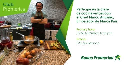 Clase virtual con Chef Marco Antonio