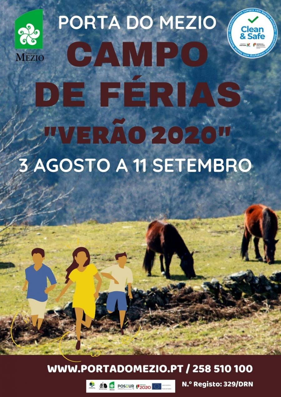 """CAMPO DE FÉRIAS DA PORTA DO MEZIO """"VERÃO 2020"""" ..."""