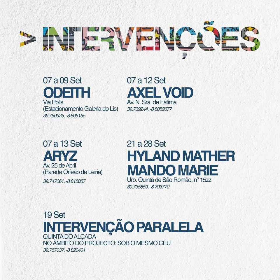 Arte pública em Leiria: Intervenções