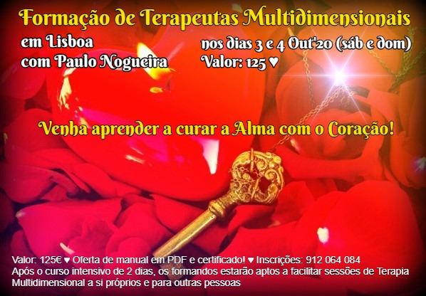 Curso de Terapia Multidimensional em Lisboa em Out'20