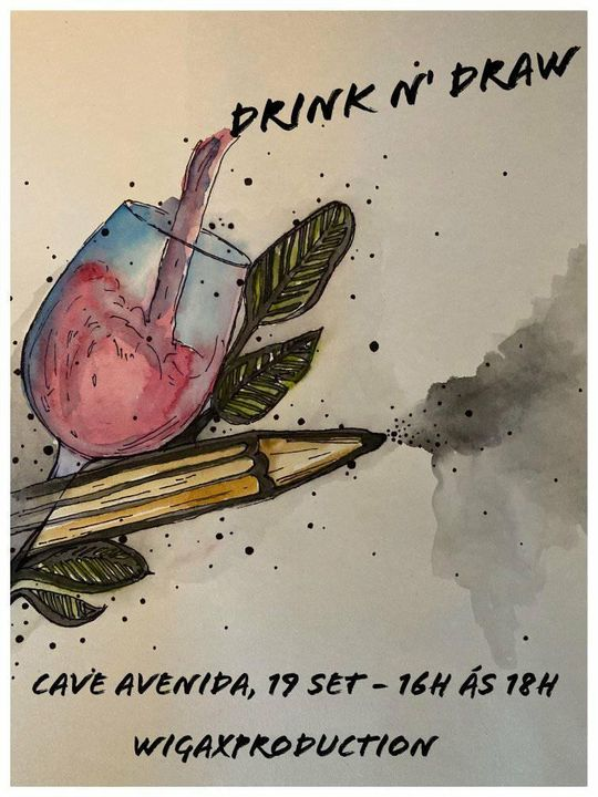 Drink n' Draw na Cave