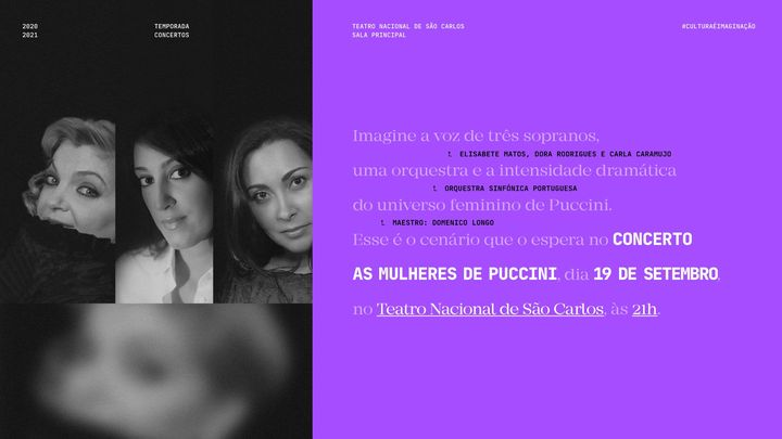 As Mulheres de Puccini — Elisabete Matos, Dora Rodrigues, Carla Caramujo e Orquestra Sinfónica Portuguesa