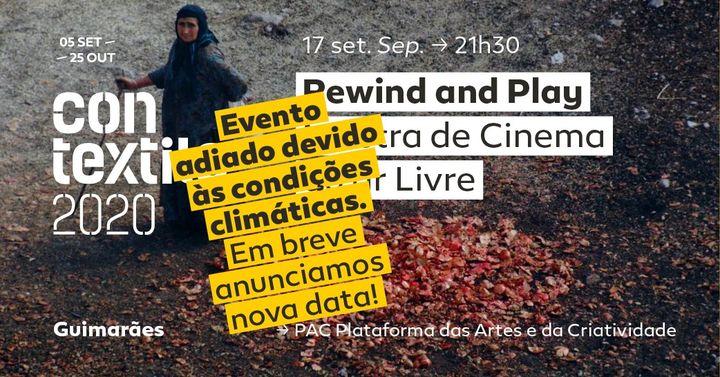 Rewind and Play – Mostra de cinema ao ar livre