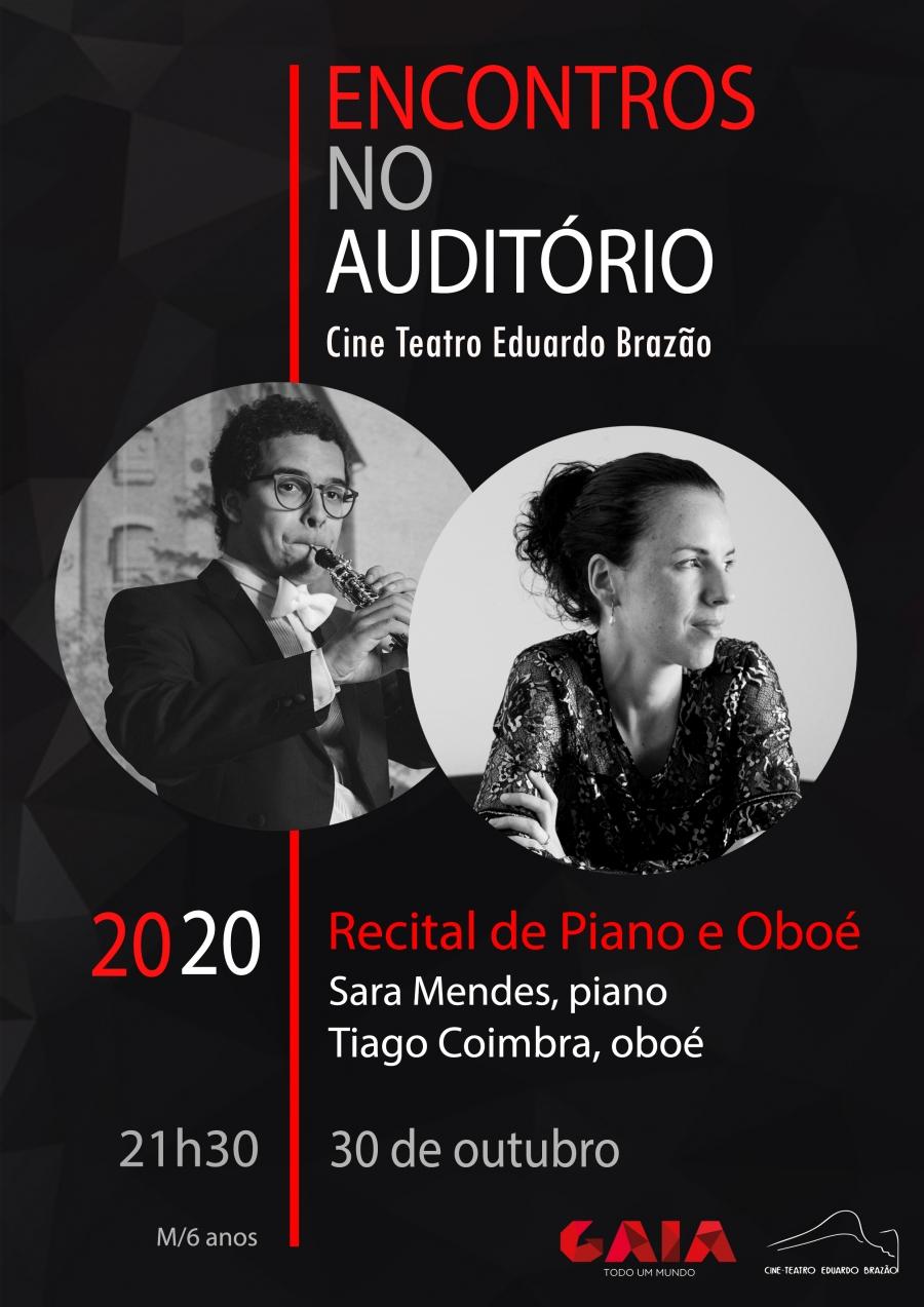 Sara Mendes (piano) e Tiago Coimbra (oboé)