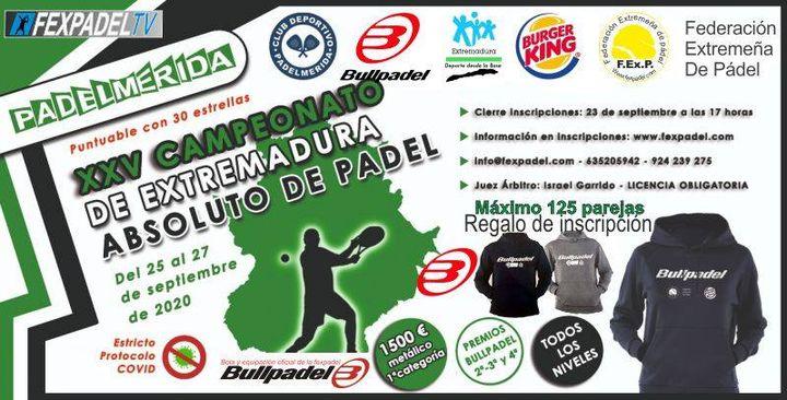Campeonato de Extremadura Absoluto de Pádel 2020