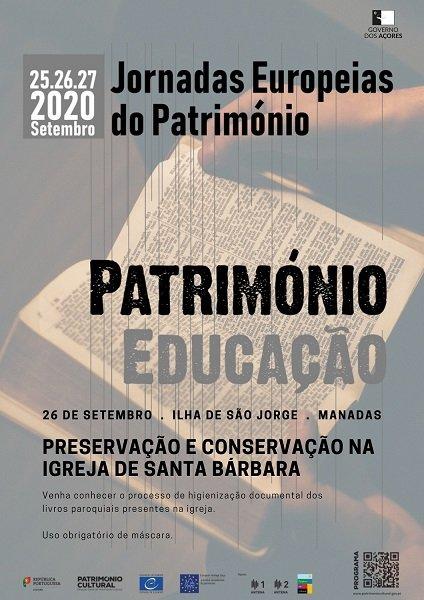 COMEMORAÇÕES DAS JORNADAS EUROPEIAS DO PATRIMÓNIO- PATRIMÓNIO E EDUCAÇÃO