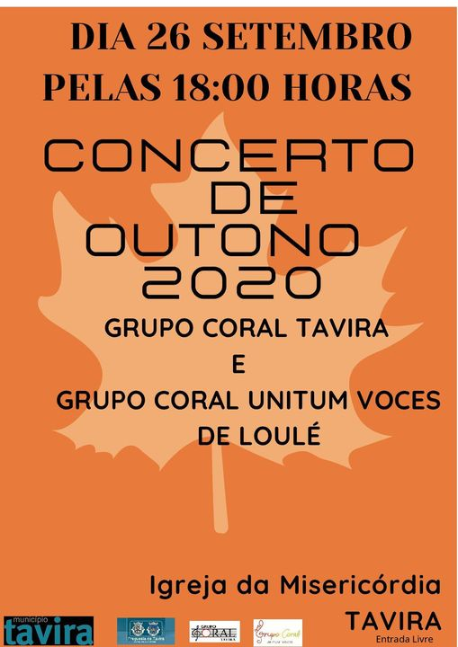 Concerto de Outono | Grupo Coral Tavira e Grupo Coral Unitum Voces de Loulé