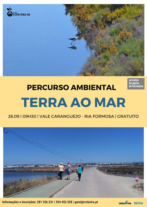 PERCURSO 'DA TERRA AO MAR'   26.09   9H30   VALE CARANGUEJO