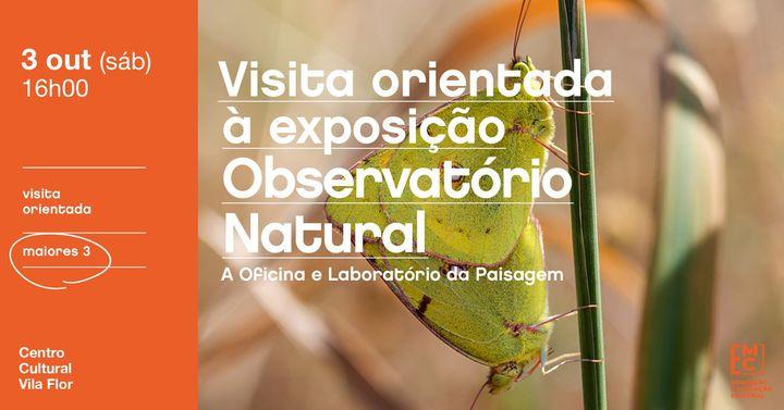 Visita orientada à exposição Observatório Natural