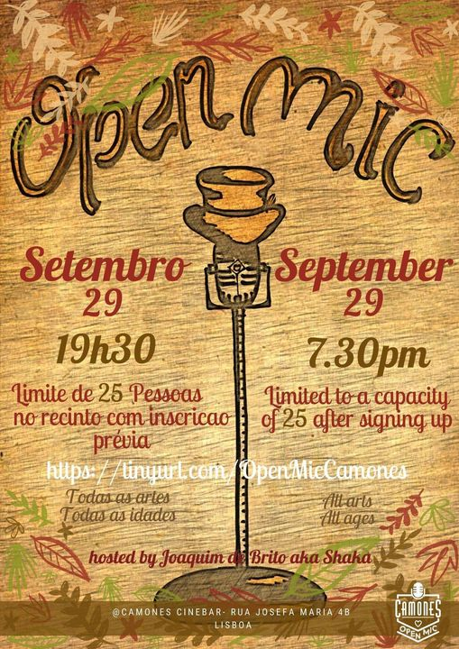 Open Mic - 47ª edição - All Arts, All Ages, All Rules