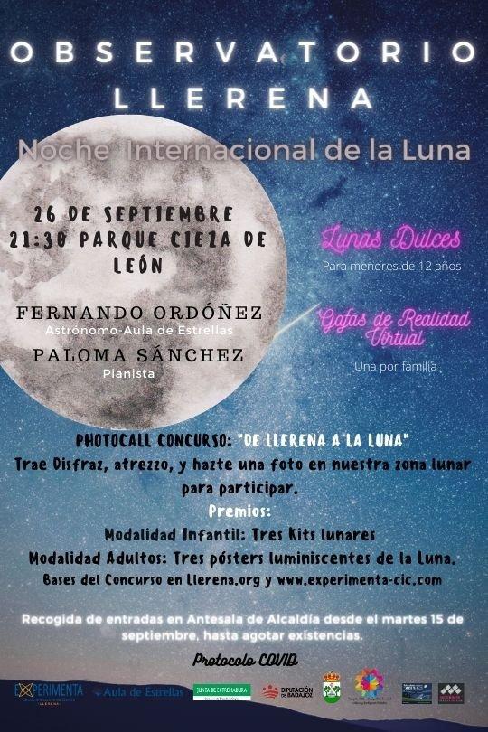 Llerena conmemora la Noche Internacional de la Luna