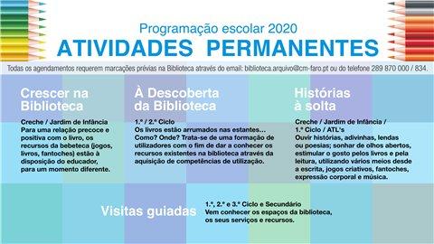 Programação Escolar 2020