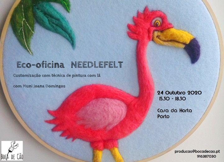 ADIADO: Eco-Oficina needlefelt - customização de roupa