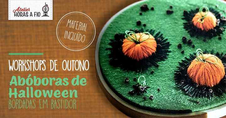 Workshop de Outono - Abóboras de Halloween