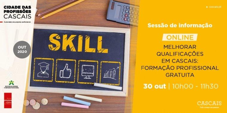 Sessão de informação online: Melhorar qualificações em Cascais: Formação Profissional gratuita