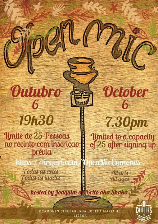 Open Mic - 48ª edição - All Arts, All Ages, All Rules