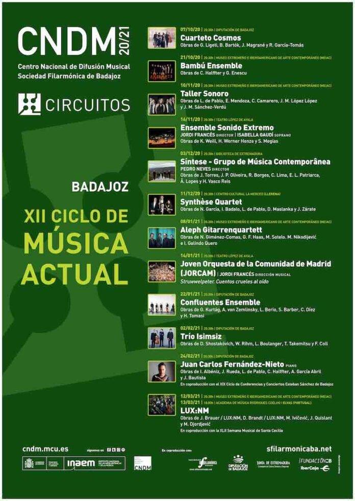 XII Ciclo de Música Actual de Badajoz – 'Aleph Gitarrenquartett'