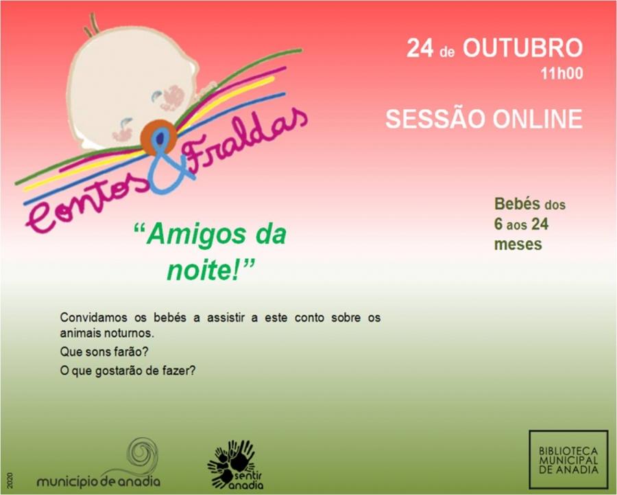 Contos & Fraldas - 'Amigos da Noite' - SESSÃO ONLINE