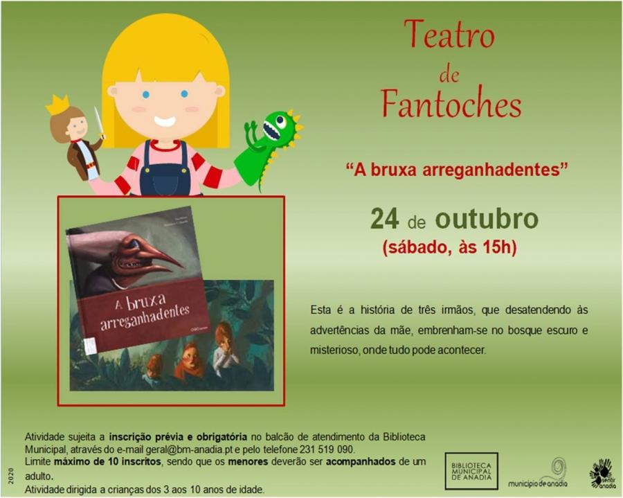 Teatro de Fantoches - 'A bruxa arreganhadentes'