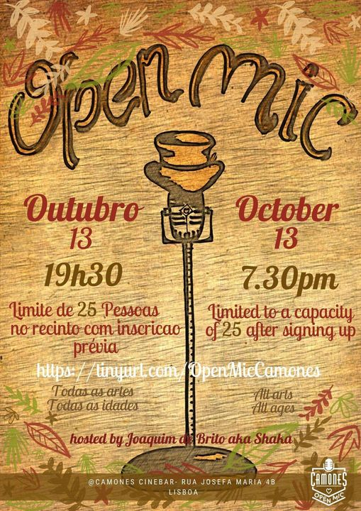 Open Mic - 49ª edição - All Arts, All Ages, All Rules